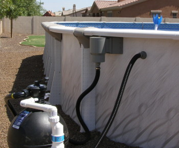 hook up sand filter above ground pool