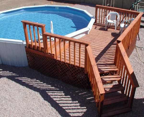Resin pool decks for Pre made timber decking