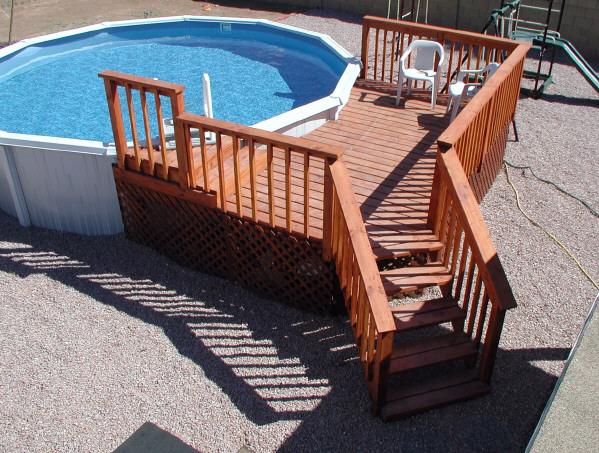 Wood pool decks for Balcony platform